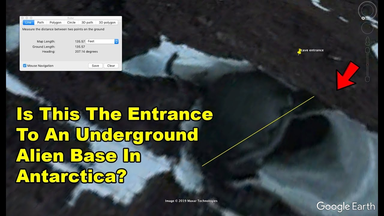 antarctic ufo entrance