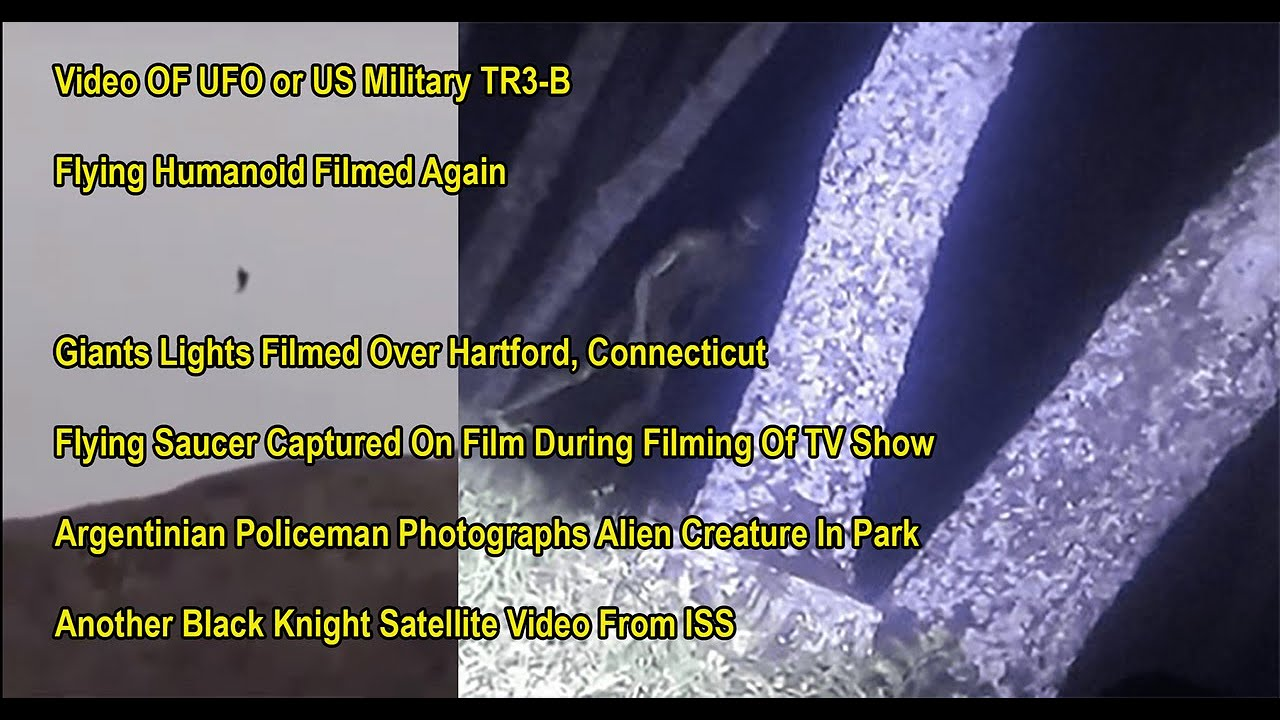 TR3-B Sighting – Flying Humanoid Filmed – Lights Hovering In Hartford – Greys Are Bio Space Robots