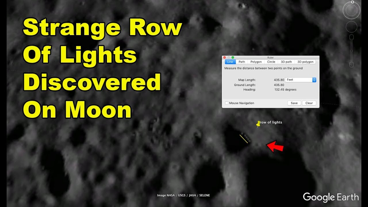 Strange Row Of Lights Found On The Moon