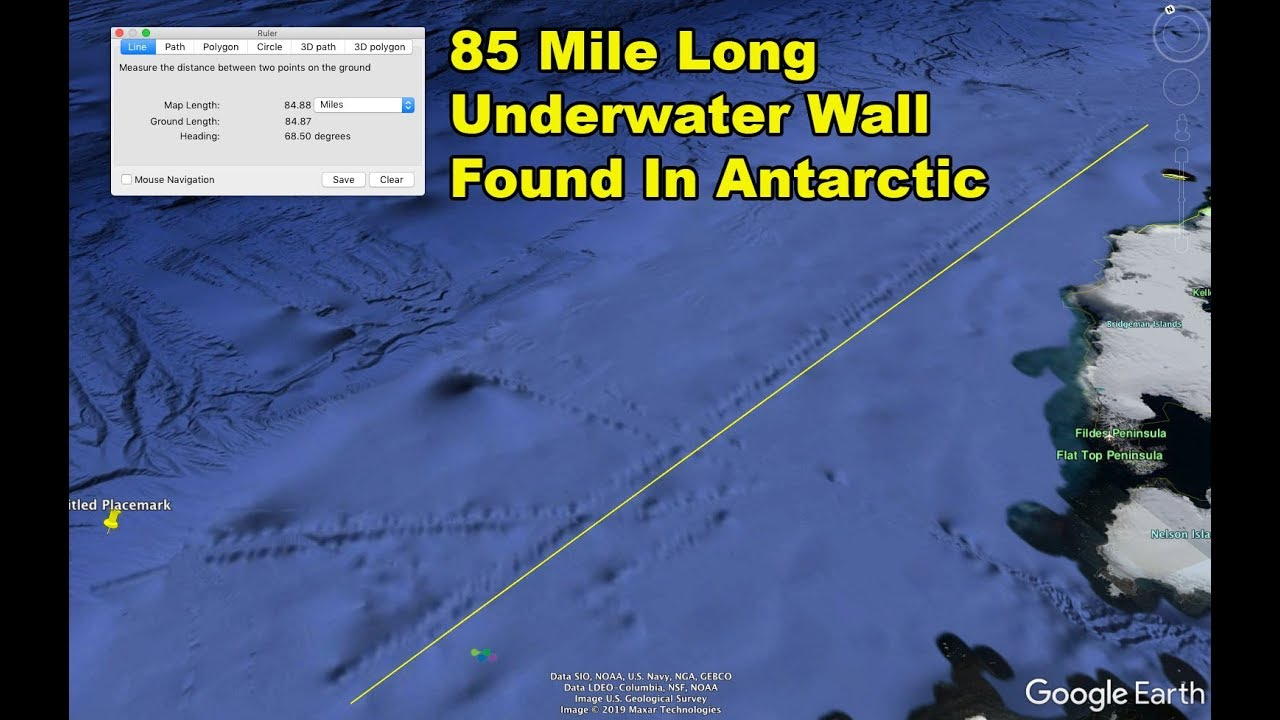 Mysterious 85 Mile Long Underwater Wall Or Barrier In Found In Antarctic
