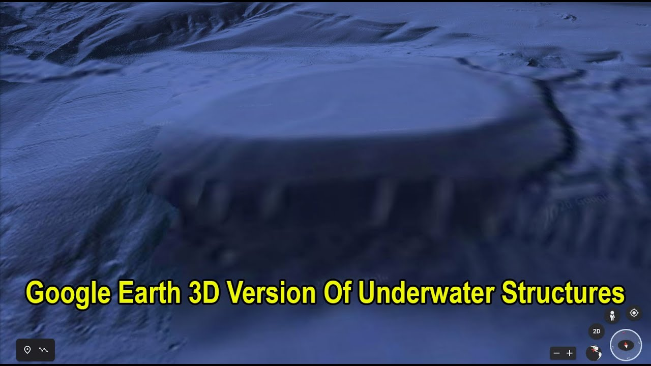 Google Earth 3D Version Of Underwater Structures