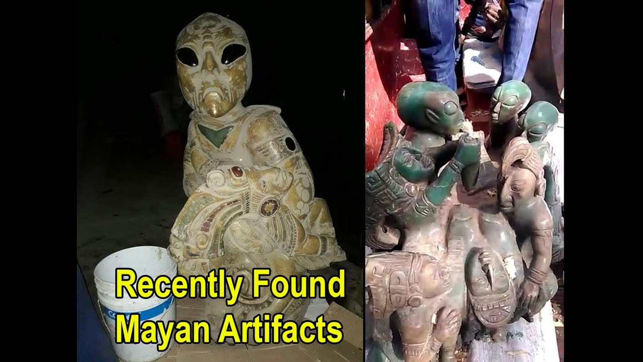 Ancient Mayan Figures Recently Found During Construction Resemble Aliens