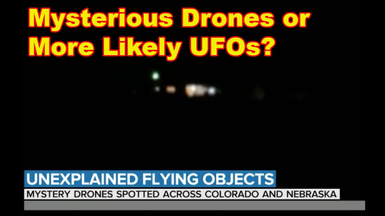 Mysterious Drones Or More Like A Formation Of UFOs?