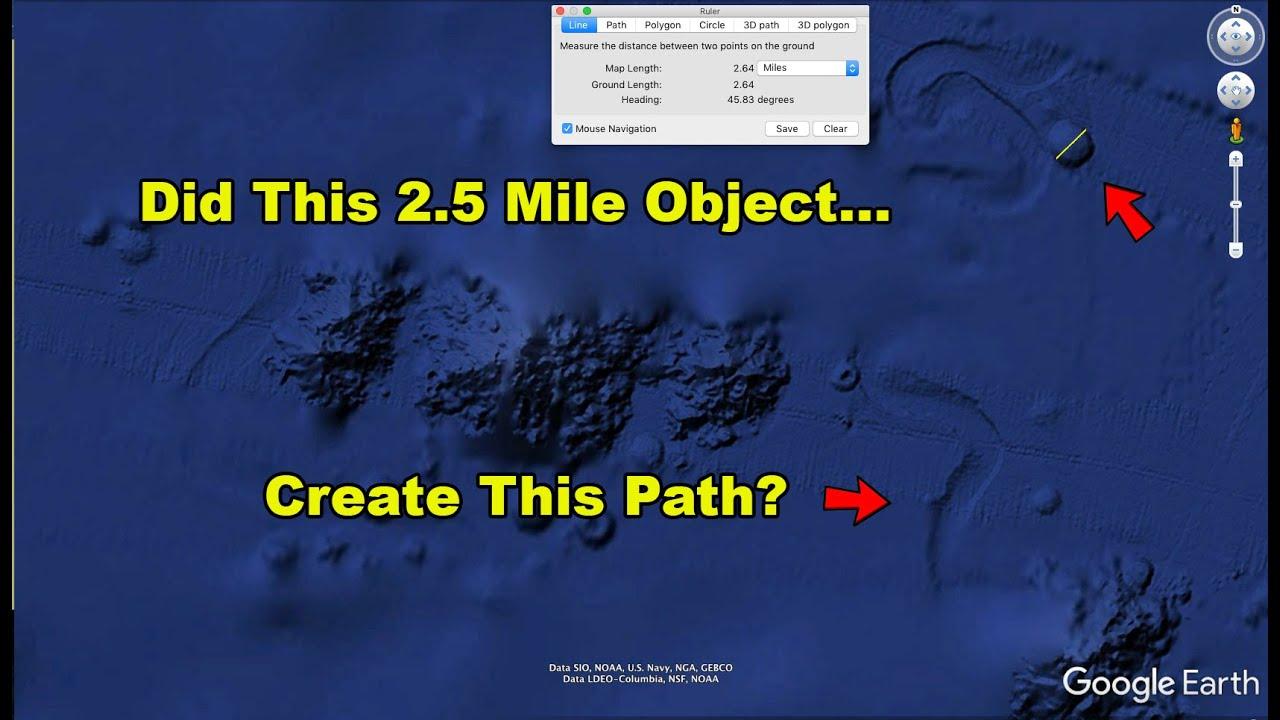 Huge 2.5 Mile Wide Object or Creature Crawling On Ocean Floor