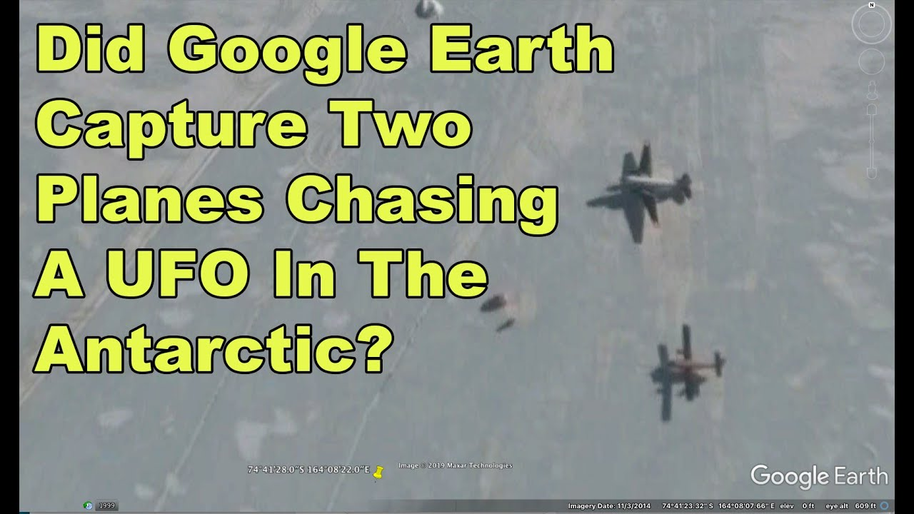 Is A UFO Being Chased By Two Planes In The Antarctic?