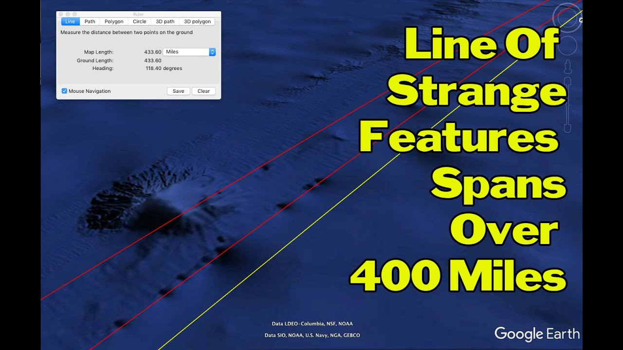 strange underwater lines