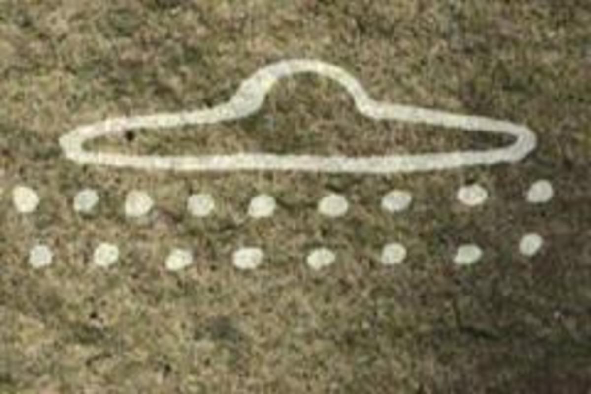 ufo sightings cave paintings