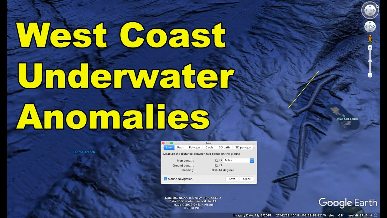 west coast underwater anomaly