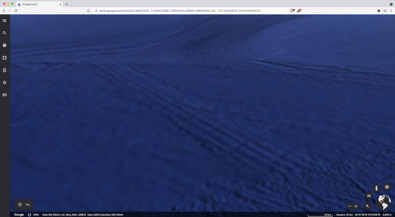 Google Earth Anomalies Found In Botswana and Underwater In Bahamas