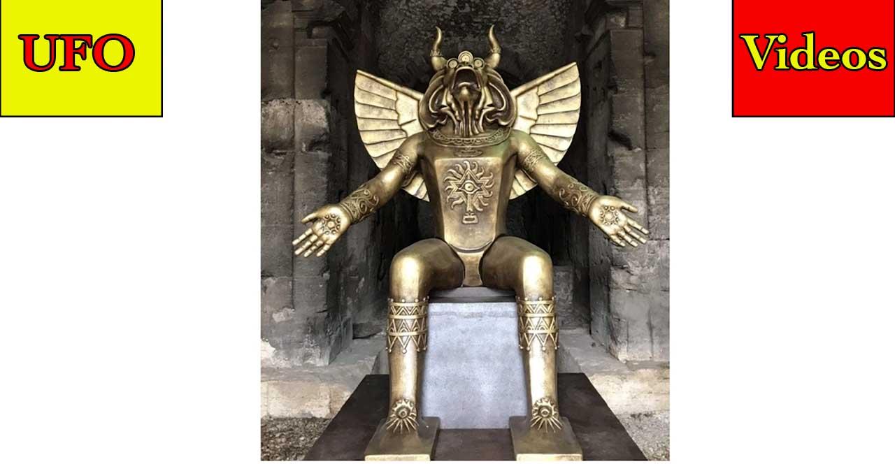 UFOs Come From The Seas – Square UFO – UFO Seen Over Fire – Alien Encounters – Statue of Moloch